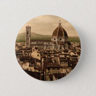 Bóton Redondo 5.08cm A catedral, vista panorâmica do palácio de