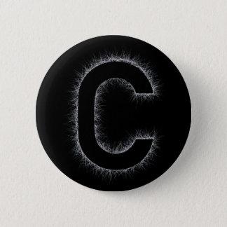 Bóton Redondo 5.08cm A letra C