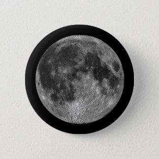 Bóton Redondo 5.08cm A lua da terra no espaço