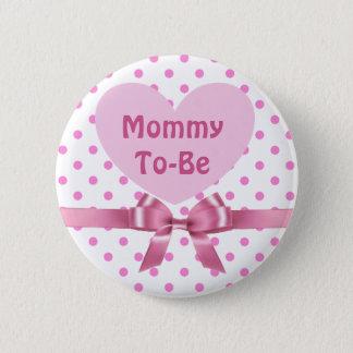 Bóton Redondo 5.08cm A polca cor-de-rosa pontilhou mamães para ser