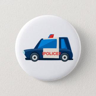 Bóton Redondo 5.08cm A polícia preto e branco brinca o ícone bonito do