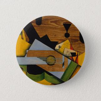 Bóton Redondo 5.08cm Ainda vida com uma guitarra