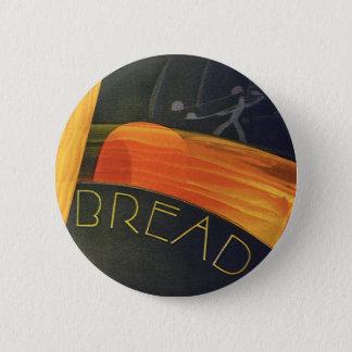 Bóton Redondo 5.08cm Alimentos saudáveis do vintage, pão integral