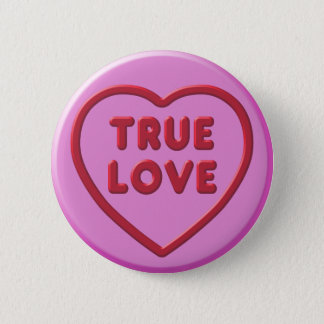 Bóton Redondo 5.08cm Amor verdadeiro