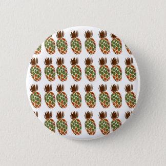 Bóton Redondo 5.08cm Ananases no design branco Ethno