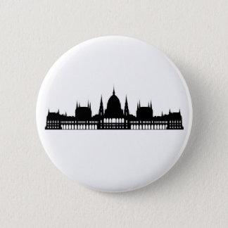 Bóton Redondo 5.08cm arquitetura do palácio do parlamento de budapest