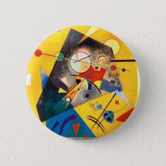 Bóton Redondo 5.08cm Arte abstracta quieta da harmonia de Kandinsky