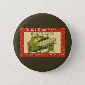 Bóton Redondo 5.08cm Arte vegetal da etiqueta do vintage, nenhuma tal