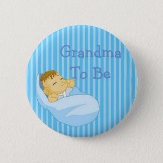 Bóton Redondo 5.08cm Avó azul a ser botão do chá de fraldas
