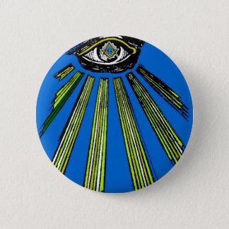 Bóton Redondo 5.08cm Azul todo o quadrado do olho e pedreiro de vista