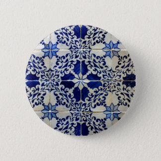 Bóton Redondo 5.08cm Azulejos, Portuguese Tiles