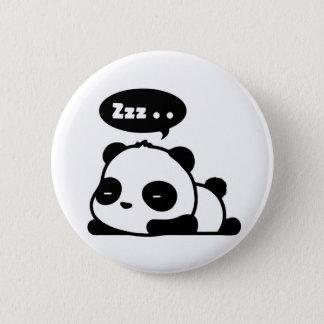 Bóton Redondo 5.08cm backgroud sonolento do branco do botão da panda