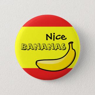 Bóton Redondo 5.08cm Bananas agradáveis
