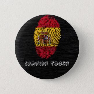 Bóton Redondo 5.08cm Bandeira da impressão digital do toque do espanhol