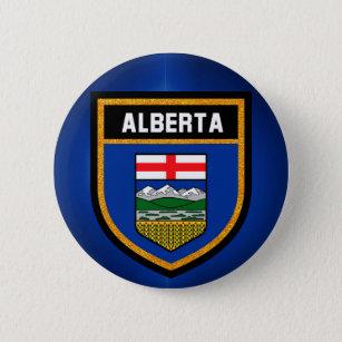 Bóton Redondo 5.08cm Bandeira de Alberta