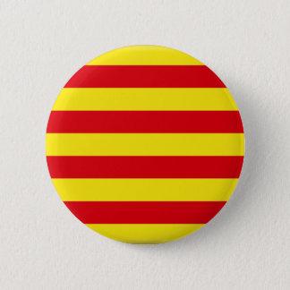 Bóton Redondo 5.08cm Bandeira de Catalonia (espanha)