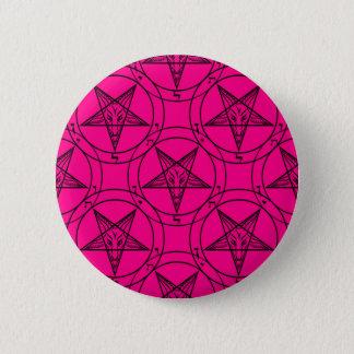 Bóton Redondo 5.08cm baphomet cor-de-rosa