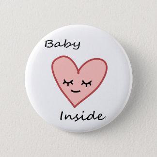 Bóton Redondo 5.08cm Bebê dentro do rosa bonito da mulher gravida do