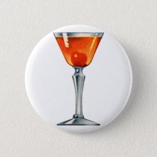 Bóton Redondo 5.08cm Bebida Manhattan das bebidas do cocktail do
