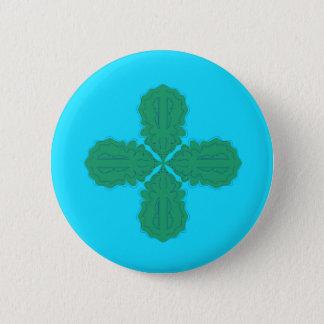 Bóton Redondo 5.08cm Bio azul da mandala do design