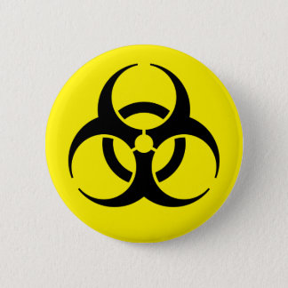 Bóton Redondo 5.08cm Biohazard