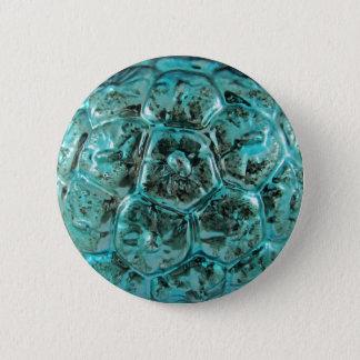 Bóton Redondo 5.08cm Bola de vidro rara do Natal de Mercury do Aqua do