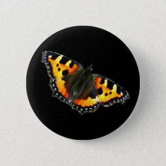 Bóton Redondo 5.08cm Borboleta de concha de tartaruga