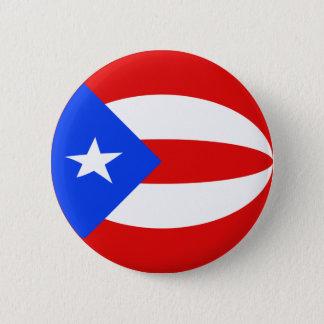 Bóton Redondo 5.08cm Botão da bandeira de Puerto Rico Fisheye