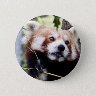 Bóton Redondo 5.08cm Botão da cara da panda vermelha