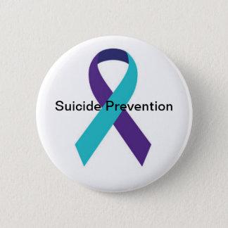Bóton Redondo 5.08cm Botão da fita da consciência do suicídio