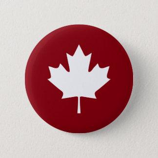 Bóton Redondo 5.08cm Botão da folha de bordo de Canadá - cores reversas