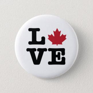 Bóton Redondo 5.08cm Botão da folha de bordo do amor de Canadá