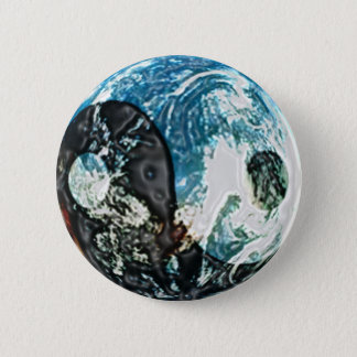 Bóton Redondo 5.08cm Botão da terra de Yin Yang