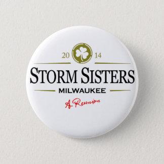 Bóton Redondo 5.08cm Botão das irmãs da tempestade