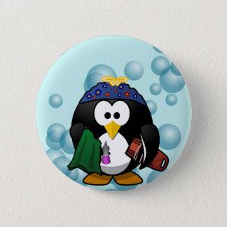 Bóton Redondo 5.08cm Botão de lavagem dos pratos do pinguim