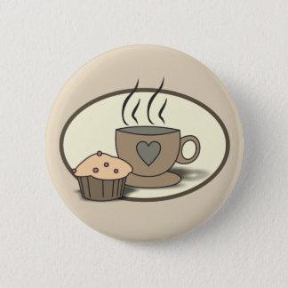 Bóton Redondo 5.08cm Botão do café e do muffin para amantes do café