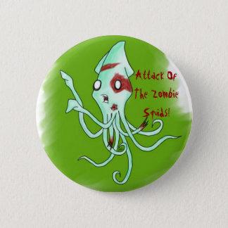 Bóton Redondo 5.08cm Botão do calamar do zombi
