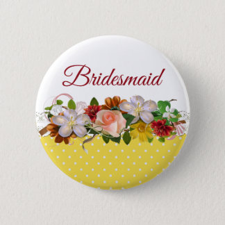 Bóton Redondo 5.08cm Botão do casamento do buquê floral da dama de
