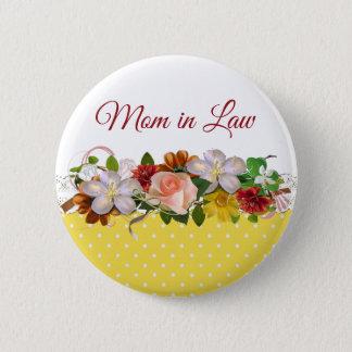 Bóton Redondo 5.08cm Botão do casamento do buquê floral da sogra
