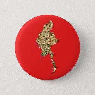 Bóton Redondo 5.08cm Botão do mapa de Myanmar
