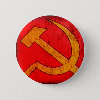 Bóton Redondo 5.08cm Botão do martelo e da foice de URSS do comunismo