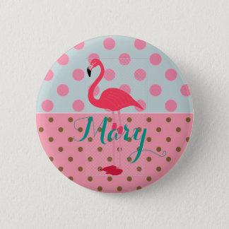 Bóton Redondo 5.08cm Botão do partido do flamingo para a celebração