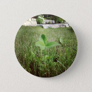 Bóton Redondo 5.08cm Botão do trevo de três folhas