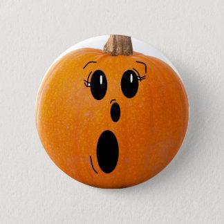 Bóton Redondo 5.08cm Botão engraçado feliz da abóbora da cara do Dia