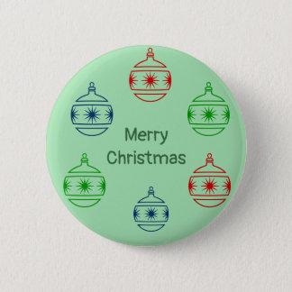 Bóton Redondo 5.08cm Botão - esferas do Natal com cumprimento