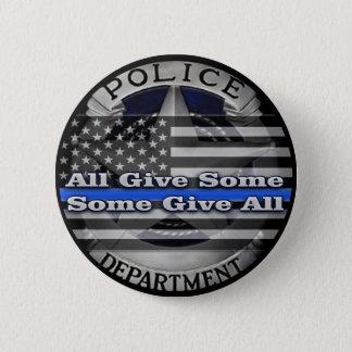 Bóton Redondo 5.08cm Botão memorável do crachá do agente da polícia