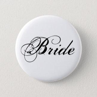 Bóton Redondo 5.08cm Botão nupcial do partido da noiva elegante
