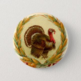 Bóton Redondo 5.08cm Botão redondo de Turquia da acção de graças do