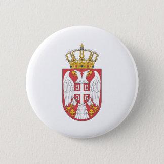 Bóton Redondo 5.08cm Brasão sérvio