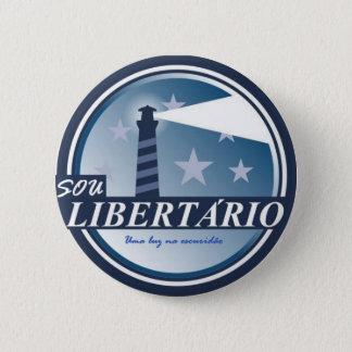 Bóton Redondo 5.08cm Broche Libertário